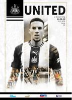 Newcastle United v Aston Villa Professionally Printed Programme 24th June 2020