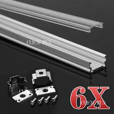 6x1M Aluminium Channel Alloy Profile HEATSINK for LED Strip Light 5050 3528 563
