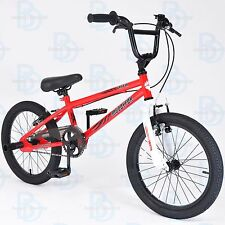 "Muddyfox Griffin 18"" BMX Bike With Stunt Pegs in Red and White - EXCLUSIVE"