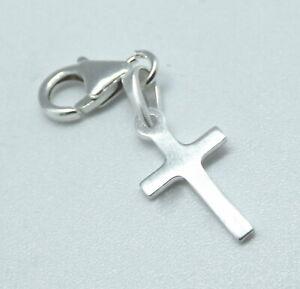 Sterling Silver 925 Cross Clip on Bracelet Christian Faith Spirtual Gift