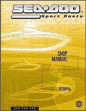 01-02 Sea-Doo Utopia 185 205 Jet Boat Service Shop & Parts Manual CD  -  Seadoo