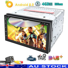 "7"" OCTACORE Android 8.0 Car GPS Stereo RAM 4GB Headunit DAB+ CD DVD Touch screen"