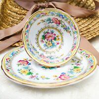 Vintage Foley China England Ming Rose Footed Demitasse Cup & Saucer Set Floral