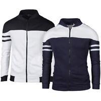 US STOCK Men Slim collar jackets fashion jacket Tops Casual coat outerwear M-3XL