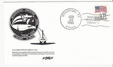 51-G CREW ARRIVES HOME AT JSC HOUSTON, TX JUNE 24, 1985 MAILERS POSTMARK SCCS