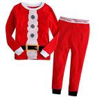 2pcs enfants garçons filles Noël pyjamas vêtements de Nuit Ensemble 1-7y ans