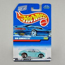 Hot Wheels '58 CORVETTE COUPE #780 *LIFT-UP HOOD / BLUE CAR PKG* 1998 Var.