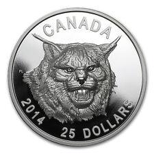 2014 Canada 1 oz Silver $25 The Fierce Canadian Lynx (UHR) - SKU #85912