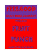 Craft Soda- Feelgood Vintage Fruit Punch Syrup, 3 Gal, Real Pure Cane Sugar
