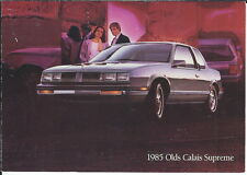 MA-052 - 1985 Olds Calais Supreme, Bob Cline Olds Marion IN Advertising Postcard