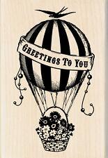 Inkadinkado Hot Air Balloon Wood Rubber Stamp, Craft, Scrapboking, Stamping