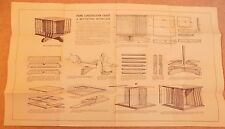 Newnes Home Mechanic 1930s Vintage Original Plans Chart DIY Revolving Bookcase