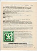 Vintage Liberate Marijuana Print Ad ~ Myths/Facts ~President's Commission Report