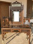 Antique Console with Mirror Inlaid Mother of Pearl