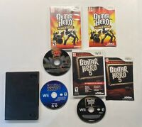 Nintendo Wii Guitar Hero 5, Guitar Hero World Tour Rock Band 3  Bundle