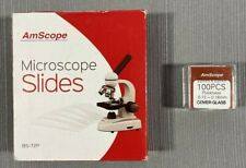 Amscope Microscope Slides Amp Cover Glass Lot Newopen Box