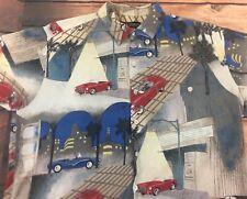 Men's Large Tori Richard Hawaiian Shirt Viscose Classic Cars Now Showing L
