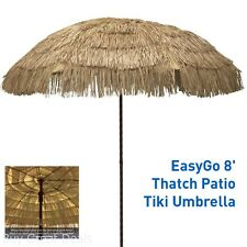 Outdoor Patio Umbrella Tiki Hut Hawaiian Tropical Palapa Raffia Natural Canopy