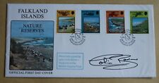 FALKLAND ISLANDS NATURE RESERVES 1990 FDC SIGNED BY DR WHO ACTOR COLIN BAKER