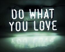 "14""x7""DO WHAT YOU LOVE Neon Sign Light Handmade Real Glass Tube Beer Bar Decor"
