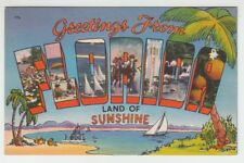 [66849] OLD LARGE LETTER POSTCARD GREETINGS FROM FLORIDA LAND of SUNSHINE