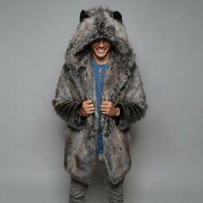 Men's Coat New - Warm Thick Coat Jacket Faux Fur Parka Outwear XXL