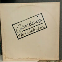 "GENESIS - Three Sides Live - Double Album 12"" Vinyl Record LP - VG+"
