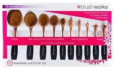 BRUSHWORKS Hd Luxurious Oval Brush Set (10-teilig) NEU&OVP