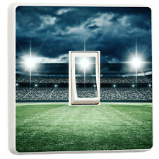 Awesome floodlit football pitch at night light switch sticker cover (54318773)