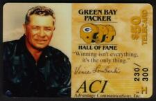 $50. Vince Lombardi (Green Bay Packer) USED Phone Card
