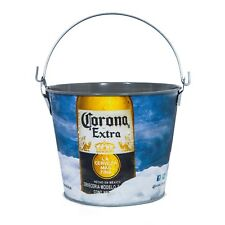 New Genuine Corona Extra Light Painted Beer Bucket Cooler Man Cave Home Brew