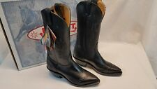 NWT & Box 4035 Boulet Womens Cowgirl Western Boots Black Size 5C