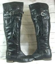 Vintage Faith Black Over Knee Boots Size UK 6