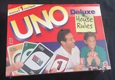New Sealed UNO Deluxe House Rules Mattel #43001 3 More Ways To Play 1998