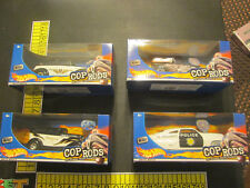 Cop Rods Lot of 4 (Anglia Panel Truck,Fat Fendered 40, 49 Merc,32 Ford Sedan)