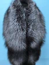 Silver Fox Fur Collar 59' Saga Furs Natural Colors Silver Fox Stole