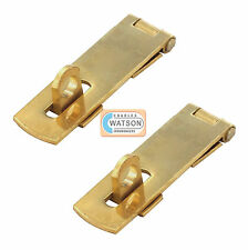 2x 50mm LAITON MASSIF CADENAS ET MORAILLON Petit/Mini Door Cupboard/Armoire