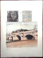 Christo Pont Neuf - Paris 1985 - Litografia 56x76 - Hand signed