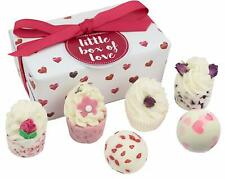Bath Bomb Melts Creamers Floral Romantic Scents Little Box Of Love Gift Pack New