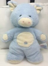 "Aurora Baby Pig Plush Light Pastel Blue Shower Nursery Kawaii 11"" Piglet So Soft"