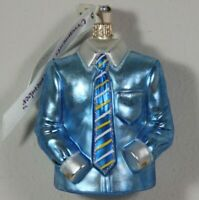 Ornaments to Remember Christmas Ornament Glass White Collar Office Boss Shirt