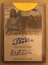 GAME OF THRONES - SEASON 6: DUAL AUTOGRAPH CARD: MAISIE WILLIAMS & TOM WLASCHIHA