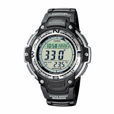 Casio Uomo Resistente all' acqua Sport DIGITAL COMPASS TWIN SENSOR OROLOGIO sgw100-1v