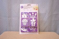 SET OF 6 WILTON BIRTHDAY CAKE STAMPS NEVER USED