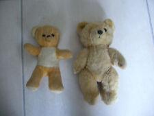 lot ours ancien peluche peut etre bouba et frisquette 21 et 25 cm