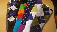 New 6 Pairs Men's Argyle Diamond Classic Style Socks Traditional Look Colorful