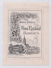 Ex Libris Bookplate for Mina Reichard: German