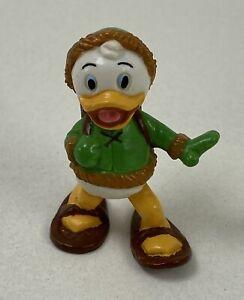 Vintage 1986 Louie Duck Applause Figure Disney Ducktales, Snowshoe Hiking Pose