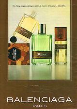 PUBLICITE ADVERTISING 114  1980  BALENCIAGA  parfum HO HANG
