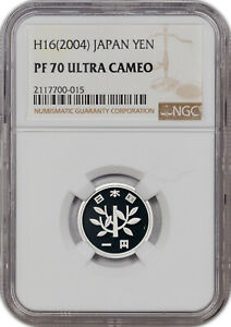 H16 2004 JAPAN YEN NGC PF 70 ULTRA CAMEO PROOF FINEST KNOWN